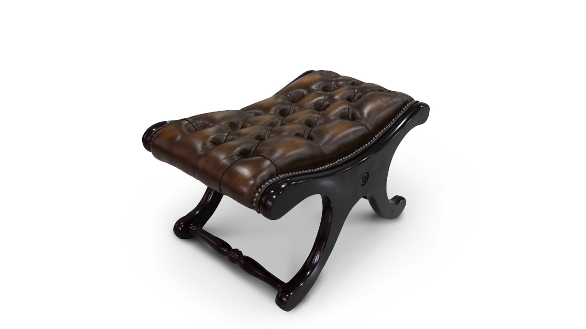 Chesterfield Saddle footstool