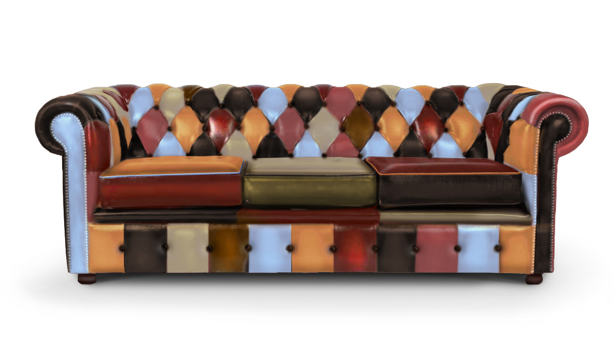 Harlequin Chesterfield 3 Seater