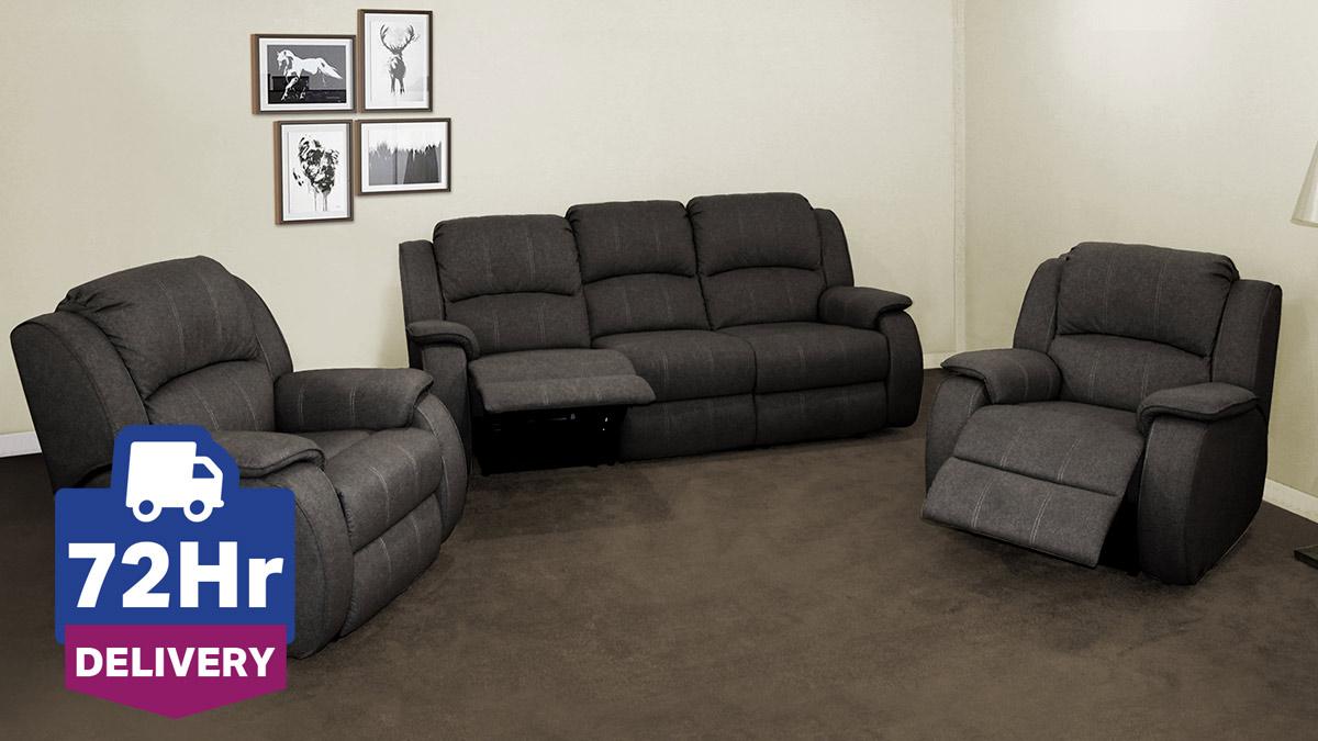 Manhattan 3 Seater Fabric Recliner