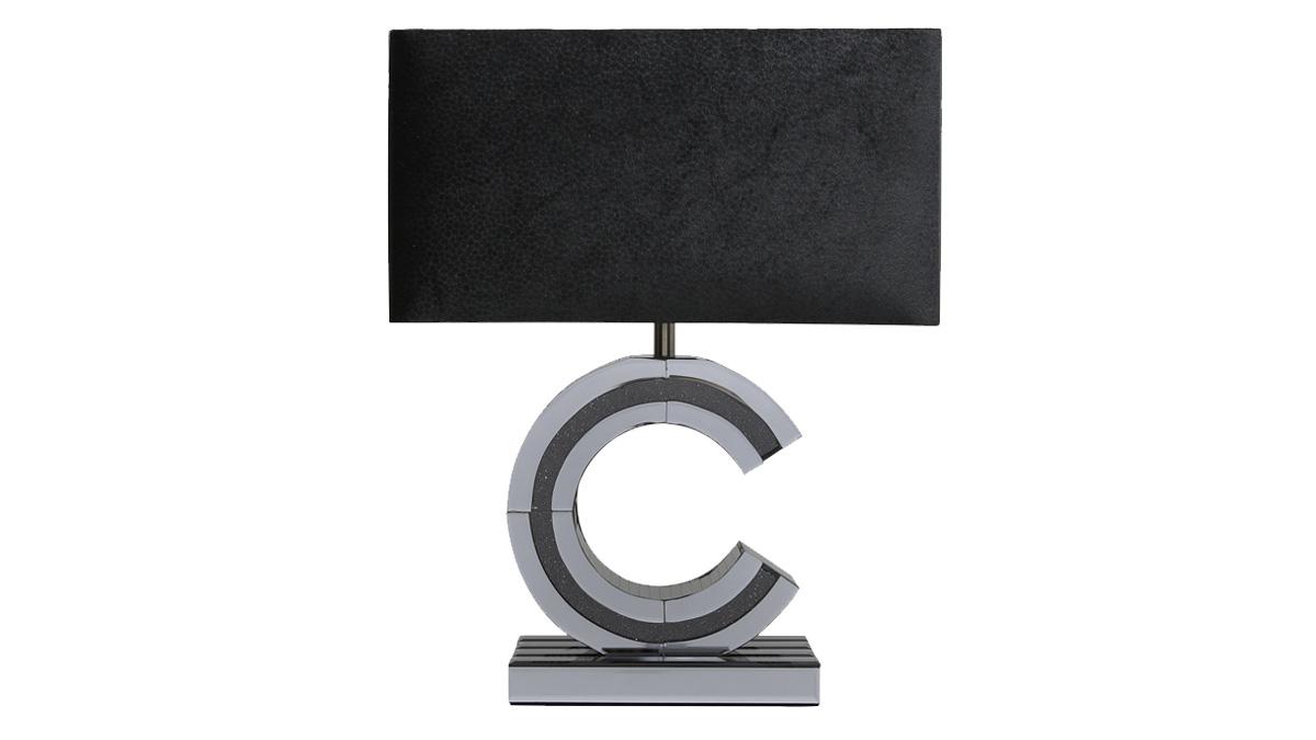 Glitz 'C' Lamp - Smoked Black