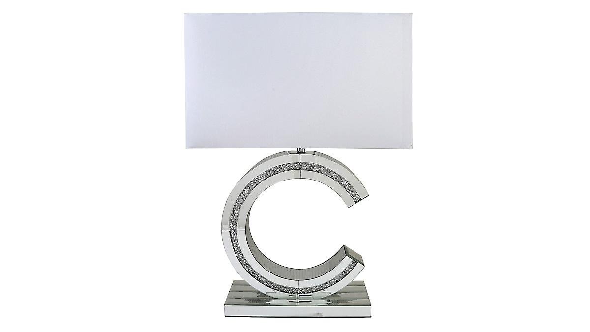 Glitz 'C' Lamp - White