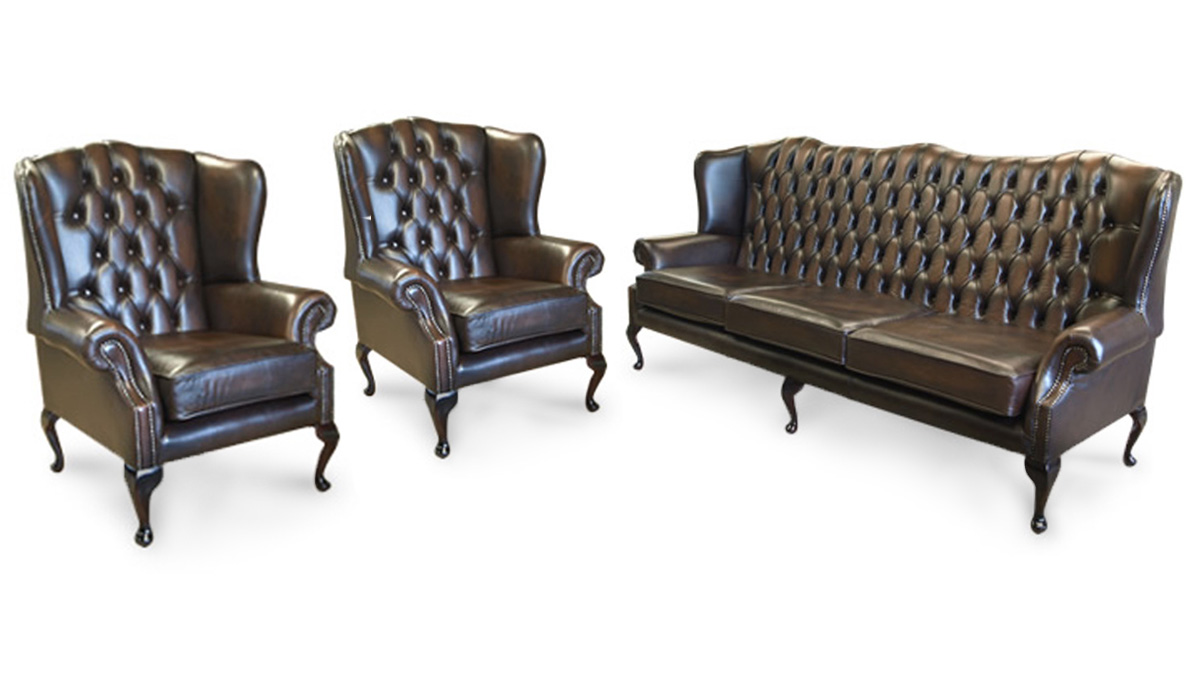 Queen Anne Chesterfield 3-1-1 Suite