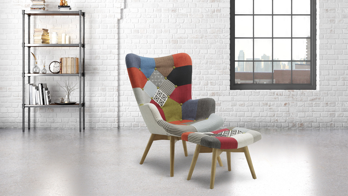 Sloane Chair and Footstool